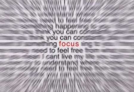 Focus is key.