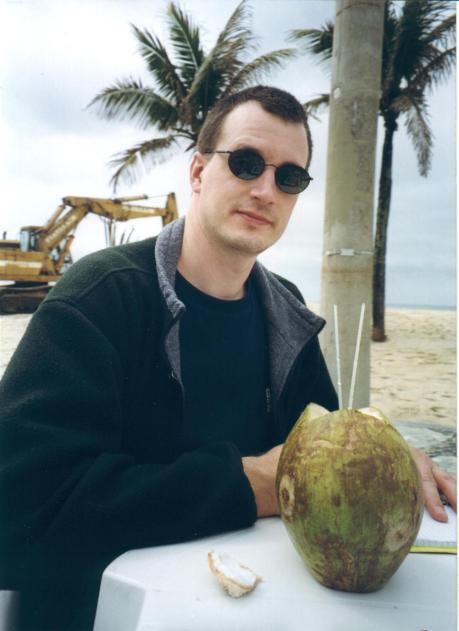At Leblon beach, Rio de Janeiro, 1999