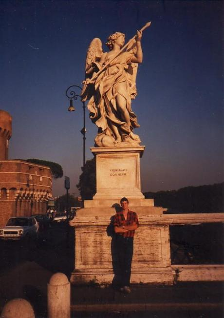 My first trip to Rome in 1989, with one of Bernini's angels