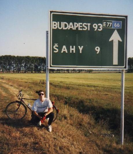 Bicycling near the Slovakian border, September 1992