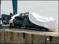 A submarine fielded by non-state actors, probably for smuggling narcotics, recovered off the Spanish coast.