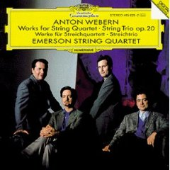 The CD of the Emerson Quartet performing Anton Webern's works for string quartet