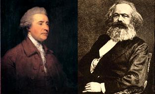 Edmund Burke and Karl Marx tête-à-tête in prose