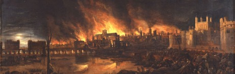 The Great Fire of 1666 began in a baker's shop and a third of the city was consumed in the conflagration.