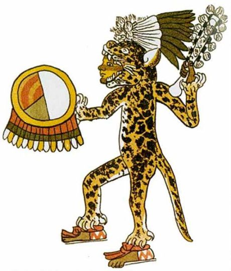 an Aztec Jaguar Warrior