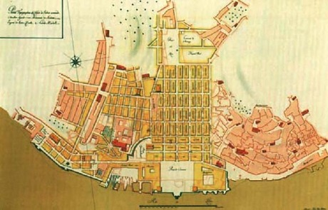 Pombal's plan for the reconstruction of Lisbon after the 1755 earthquake.