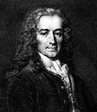 Voltaire, horticulturist and author of the gardening guide Candide