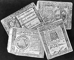 scrip issued by New York, Pennsylvania, and the Continental Congress