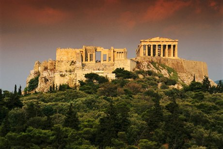 The ruins of Athens contrast strikingly with the ruins of Sparta.