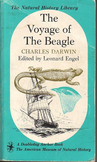 This is the copy of The Voyage of the Beagle that I brought with me to the Galapagos.