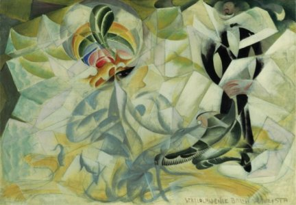 A futurist painting by Giacomo Balla, converted to Futurism by Marinetti himself.