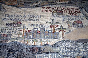 The map mosaic at Madaba, Jordan.