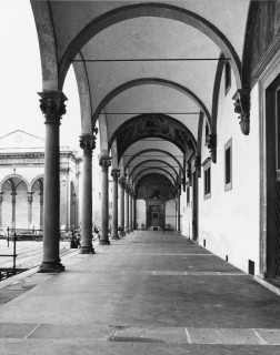 Renaissance classicism: harmony, form, order, proportion, and symmetry at the Ospedale degli Innocenti in Florence.