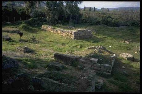 The ruins of Sparta. Note the contrast to the ruins of Athens (pictured above).