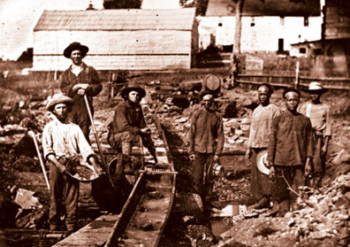 The gold rush of 1849 constituted a frontier experience combined with American optimism and the idea of manifest destiny.