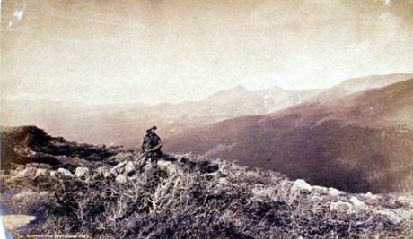 Everyman is an adventurer in the frontier (William Henry Jackson, North from Berthoud Pass, 1871).
