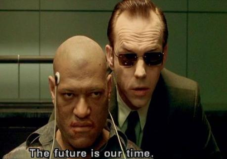 In The Matrix the machines offer their own interpretation of natural history and indeed offer a new eschatological history in which machines replace human beings.