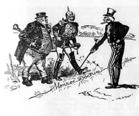 The Monroe Doctrine was more about the inability of the US to project power globally than an expression of a principled US foreign policy.