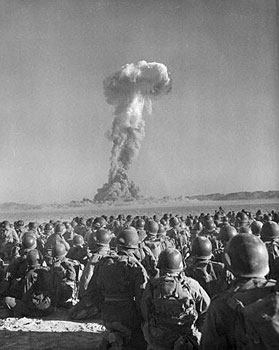 The advent of nuclear weapons altered both the quantitative and qualitative development of war.