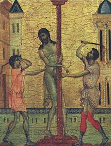The Flagellation of Christ, Cimabue (Cenni di Peppo), c. 1240-c.-1302