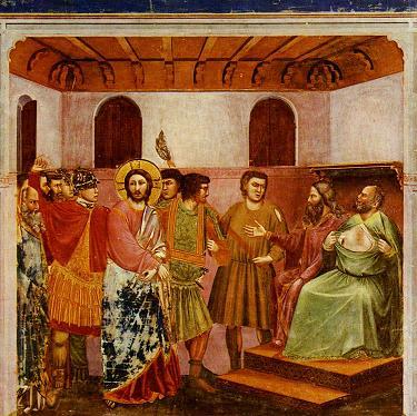 Christ Before Caiaphas, c.1305, Giotto di Bondone, Italian Early Renaissance, 1267-1337