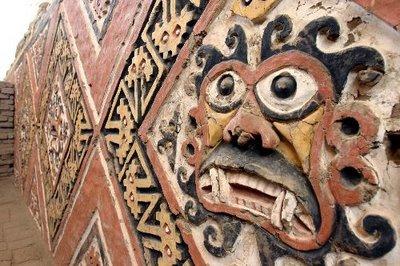Huaca de la Luna: one of the many faces of civilization, a temple complex of the Moche of Peru.