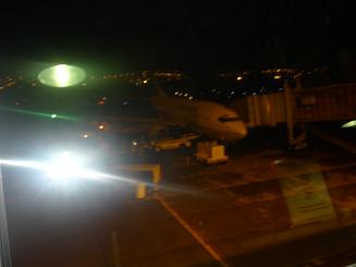 A poor quality photo of the jet that brought me from Houston to Quito.