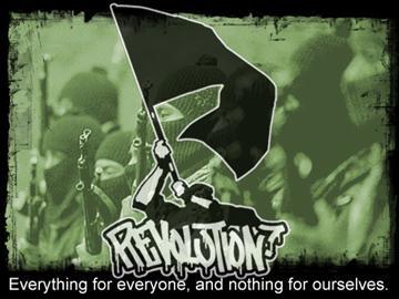 """An au courant revolutionary slogan from the Zapatistas: """"Para todos todo, para nosotros nada."""""""