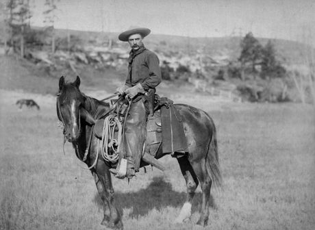 A modern nomad, the cowboy is a legendary figure of the American intermountain west and figures prominently in American national mythology.