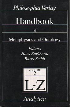 handbook of metaphysics and ontology
