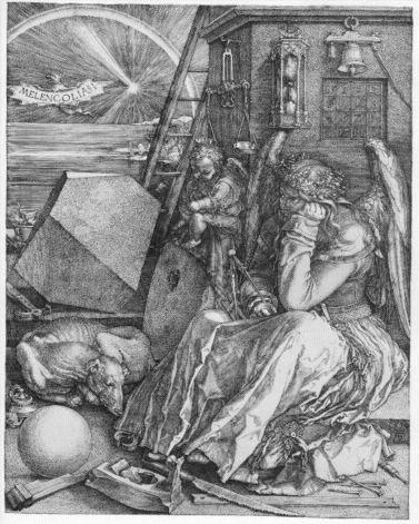 Kenneth Clark had good things to say about Albrecht Dürer's engraving Melancolia I, which he calls a prophetic document