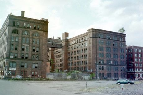 Abandoned buildings in Pittsburgh, since redeveloped into soi-dissant lofts.