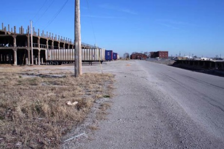 The barren and desolate National Stockyards at East St. Louis