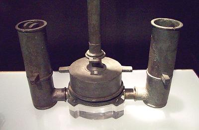 Ancient Roman water pump, a sophisticated artifact of mechanical engineering.
