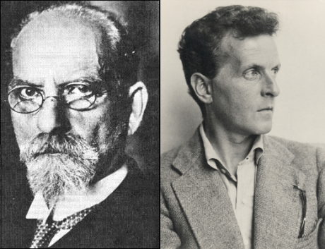 The idea of regional ontologies is due to Husserl (left) while the idea of family resemblances overlapping and intersecting is due to Wittgenstein (right).