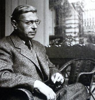sartre seated