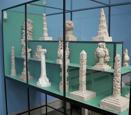 Early models for the monolith at the Vigeland Museum.