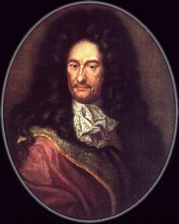 Gottfried Wilhelm Leibniz: rationalist philosopher, big hair aficionado, and target of Kantian skepticism.