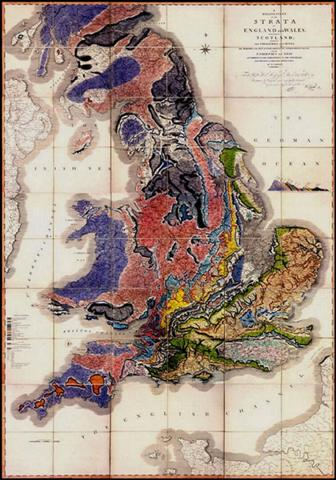 William Smith's geological map of England that, according to Simon Winchester, changed the world. Winchester's book on William Smith is well worth reading.
