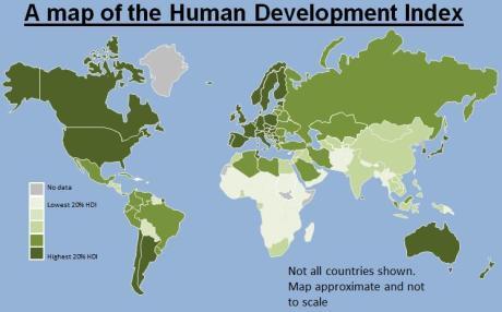 HDI map