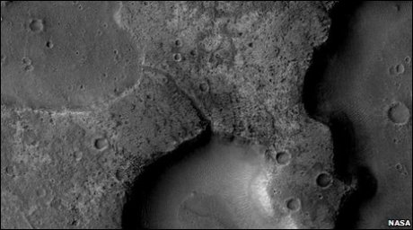 An actual, and not a mythical, canal on Mars.