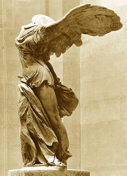 The Nike of Samothrace, now at the Louvre, is one of the high points of Western civilization. To behold this sculpture with your own eyes is to be humbled before an antiquity that could attain a vision virtually beyond us today.