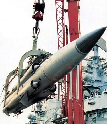 Russian made P-270 Moskit, AKA 'Sunburn' supersonic anti-ship missile.