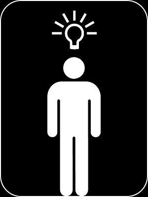 pictogram - man with idea