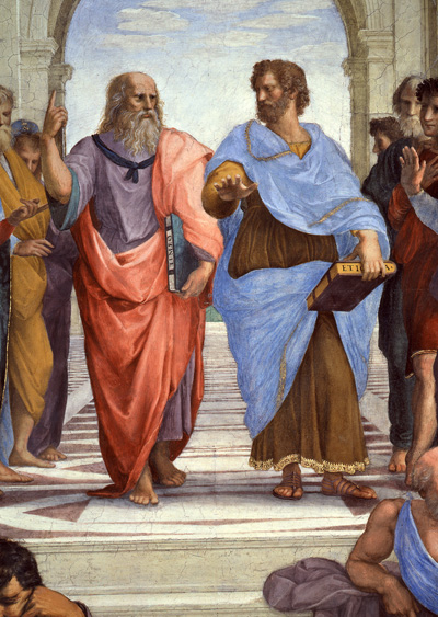 Plato and Aristotle by Rafael