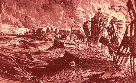 http://en.wikipedia.org/wiki/1755_Lisbon_earthquake