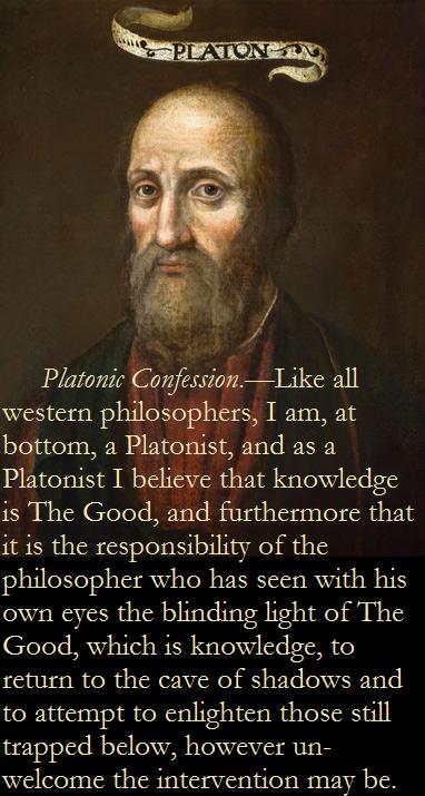 Platonic confession