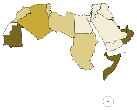 The Arab League, presently with 22 members, was founded in Cairo in 1945 by Egypt, Iraq, Lebanon, Saudi Arabia, Syria, Transjordan (Jordan from 1946), and Yemen. There was a continual increase in membership during the second half of the 20th century, with additional 15 Arab states and 4 observers being admitted.