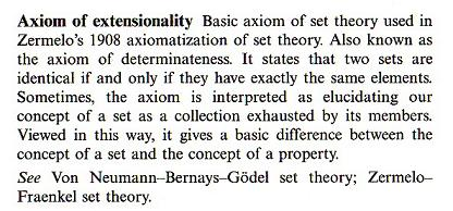 thesis of extensionality Intensional truth functions constitute counterexamples to the extensionality thesis and raise difficulties for efforts to provide formal criteria of truth.
