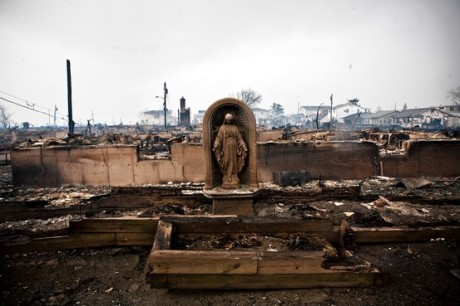 Natalie Keyssar for The Wall Street Journal: The Virgin Mary of Breezy Point, as the sculpture has come to be known after Hurricane Sandy.